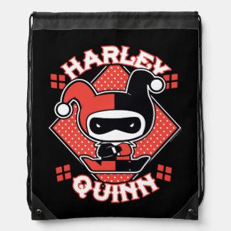 Chibi Harley Quinn Splits Drawstring Bag