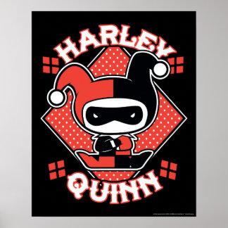 Chibi Harley Quinn Splits Poster