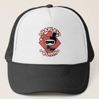 Chibi Harley Quinn Splits Trucker Hat