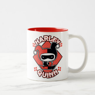 Chibi Harley Quinn Splits Two-Tone Coffee Mug