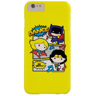 Chibi Heroes Dancing Barely There iPhone 6 Plus Case