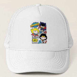 Chibi Heroes Dancing Trucker Hat