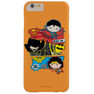 Chibi Heroes Ready For Action! Barely There iPhone 6 Plus Case