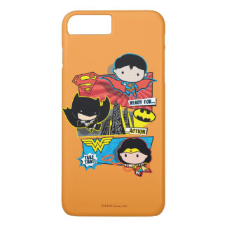Chibi Heroes Ready For Action! iPhone 8 Plus/7 Plus Case