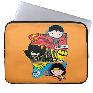 Chibi Heroes Ready For Action! Laptop Computer Sleeves