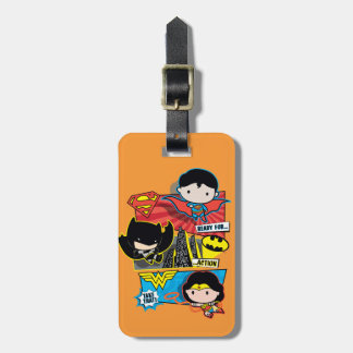 Chibi Heroes Ready For Action! Luggage Tag