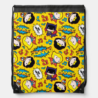Chibi Heroine Dance Pattern Drawstring Bag