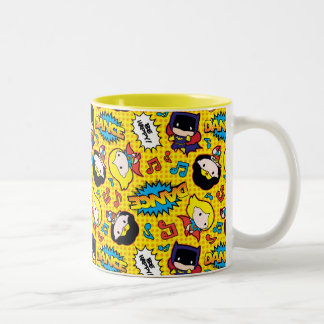 Chibi Heroine Dance Pattern Two-Tone Coffee Mug