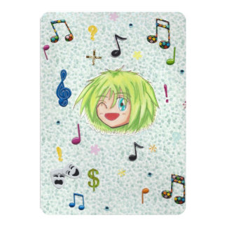 "Chibi Izumi Comic Fun Invitation Cards 5"" X 7"" Invitation Card"