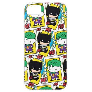 Chibi Joker and Batman Playing Card Pattern iPhone 5 Cases