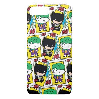 Chibi Joker and Batman Playing Card Pattern iPhone 8 Plus/7 Plus Case