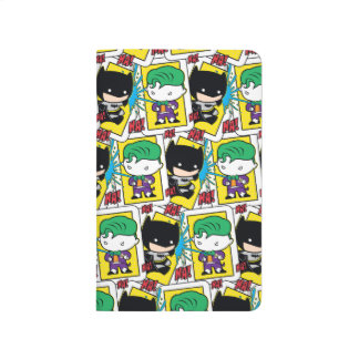 Chibi Joker and Batman Playing Card Pattern Journal