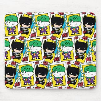 Chibi Joker and Batman Playing Card Pattern Mouse Pad