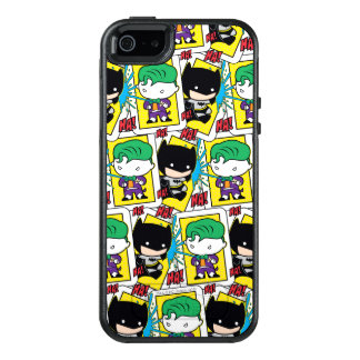 Chibi Joker and Batman Playing Card Pattern OtterBox iPhone 5/5s/SE Case