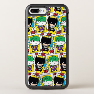 Chibi Joker and Batman Playing Card Pattern OtterBox Symmetry iPhone 7 Plus Case
