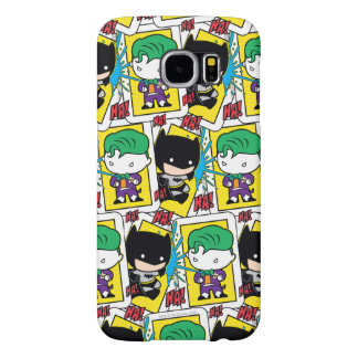 Chibi Joker and Batman Playing Card Pattern Samsung Galaxy S6 Cases