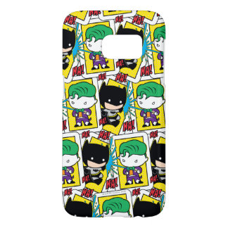 Chibi Joker and Batman Playing Card Pattern Samsung Galaxy S7 Case