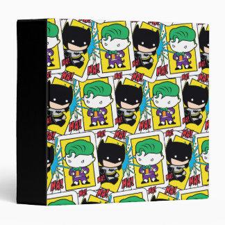 Chibi Joker and Batman Playing Card Pattern Vinyl Binders