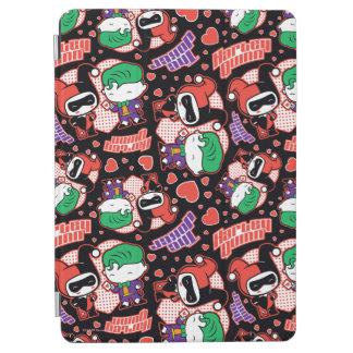 Chibi Joker and Harley Heart Pattern iPad Air Cover