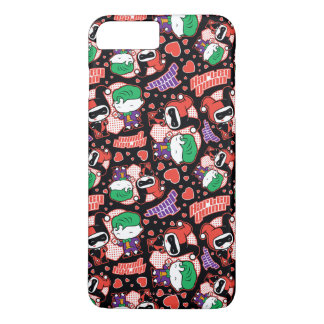Chibi Joker and Harley Heart Pattern iPhone 7 Plus Case