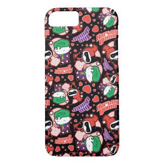 Chibi Joker and Harley Heart Pattern iPhone 8/7 Case
