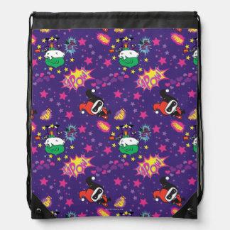 Chibi Joker and Harley Pattern Drawstring Bag