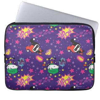 Chibi Joker and Harley Pattern Laptop Sleeve