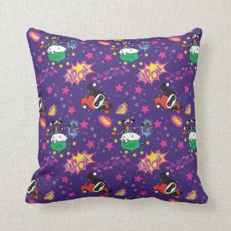 Chibi Joker and Harley Pattern Throw Pillow