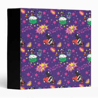 Chibi Joker and Harley Pattern Vinyl Binder