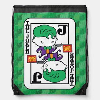 Chibi Joker Playing Card Drawstring Bag