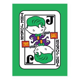 Chibi Joker Playing Card Postcard