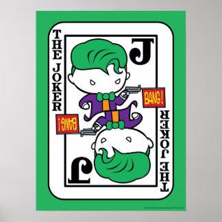 Chibi Joker Playing Card Poster