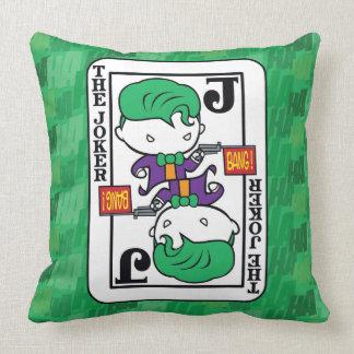 Chibi Joker Playing Card Throw Pillow