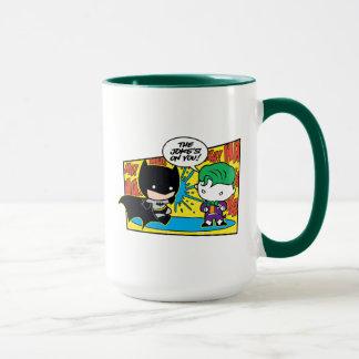 Chibi Joker Pranking Chibi Batman Mug
