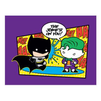 Chibi Joker Pranking Chibi Batman Postcard