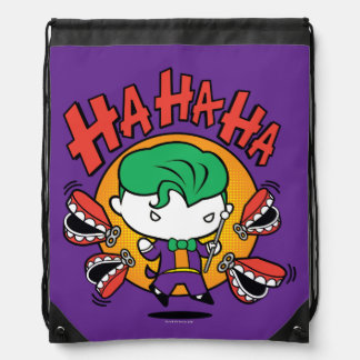 Chibi Joker With Toy Teeth Drawstring Bag