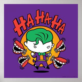 Chibi Joker With Toy Teeth Poster