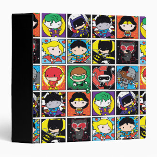 Chibi Justice League Character Pattern 3 Ring Binders