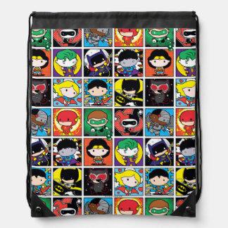 Chibi Justice League Character Pattern Drawstring Bag