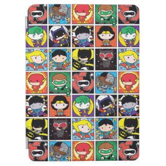 Chibi Justice League Character Pattern iPad Air Cover