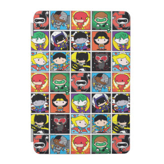 Chibi Justice League Character Pattern iPad Mini Cover