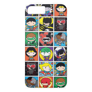 Chibi Justice League Character Pattern iPhone 7 Plus Case