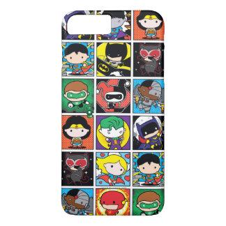 Chibi Justice League Character Pattern iPhone 8 Plus/7 Plus Case