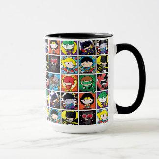 Chibi Justice League Character Pattern Mug