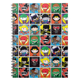 Chibi Justice League Character Pattern Notebooks