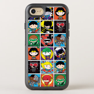 Chibi Justice League Character Pattern OtterBox Symmetry iPhone 8/7 Case
