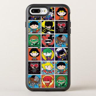 Chibi Justice League Character Pattern OtterBox Symmetry iPhone 8 Plus/7 Plus Case