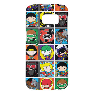 Chibi Justice League Character Pattern Samsung Galaxy S7 Case