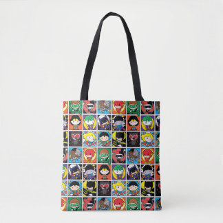 Chibi Justice League Character Pattern Tote Bag