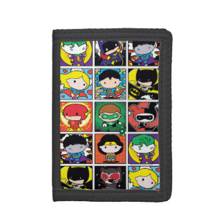 Chibi Justice League Character Pattern Tri-fold Wallets